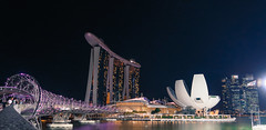 Singapore Attractions (Pulin Pegu) Tags: helix bridge mbs marina bay sands night singapore