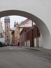 Framed! again (francesca.clemente) Tags: poland krakow wieliczkasaltmine wieliczka salt mine underground snow tyre xmas xmasmarket market christmas tree winter rynekgwny square