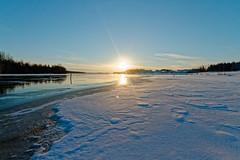 Iisalmi (Tuomo Lindfors) Tags: iisalmi suomi finland dxo filmpack porovesi aurinko sun järvi lake vesi water jää ice lumi snow