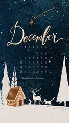 dicembre 3016 (giulia.dragone) Tags: illustration december christmas light christmasnight night woods fox rabbit gingerbreadhouse