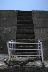 Stairs blocked, Gunkanjima Hashima