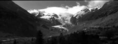 Morteratsch, xpan (Fabio Stoll) Tags: white black mountains alps analog switzerland outdoor stones gletscher selfdeveloped morteratsch kodaktrix400 einfarbig epsonv700 morne koadakhc110 hasselblandxpan2