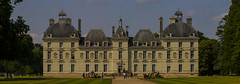 """Chateau de Cheverny Loire valley France. Panoramic view of the front of this inspiration for Herge's Tintin Marlinspike Hall/Chateau de Moulinsart. (grumpybaldprof) Tags: france colour castle history yellow stone de ancient comic cartoon pale historic valley tintin chateau loire renaissance stitched cheverny herge hall"""" """"chateau """"captain hurault vividstriking """"marlinspike moulinsart"""" haddock"""""""