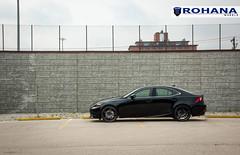 Lexus IS250 - RC8 Matte Black (4) (Rohana Wheels) Tags: wheels toyota rims concave lexus trd luxurycar rohana is250 lexusis250 rc8 luxurywheels fsport rcseries rohanawheels