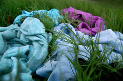 Cool Colors (MoniqueSherman) Tags: blue arizona black hot cold color green texture home colors beautiful grass night yard project dark outside outdoors cool backyard colorful purple mint overcast az clothes nighttime fabric denim digitalphotography grassy homestudio coolcolors