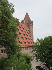 Kaiserstallungen and Luginsland tower, Nuremberg Castle, Germany (Paul McClure DC) Tags: castle architecture germany bayern deutschland bavaria nuremberg franconia historic franken nrnberg may2015