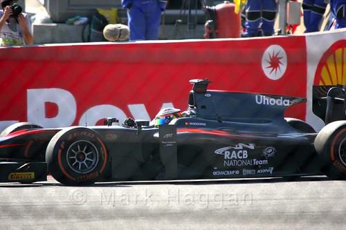 Stoffel Vandoorne in the GP2 Sprint Race at the 2015 Belgium Grand Prix
