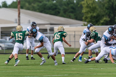 JV Sharks v Nease-1 (mark.calvin33) Tags: football hit student kick quarterback pass highschool rush catch defense pontevedra tackle blocker nightgame rushing offense pvhs runningback rushingyards