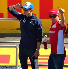 F1 Monza GP 2015 - Kimi Raikkonen-Marcus Ericsson (Marco Moscariello) Tags: ericsson f1 ferrari sauber formula1 raikkonen monza 2015 kimiraikkonen driversparade marcusericsson italiangp