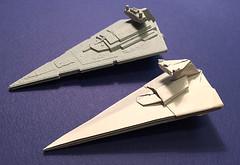 Star Destroyer origami real-angled version just succeeded. (Matayado-titi) Tags: starwars origami space destroyer spaceship starship stardestroyer sugamata matayado