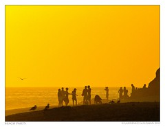 Beach Party (lhg_11, 2million views. Thank you!) Tags: people beach silhouettes malibu southerncalifornia leocarrillostatebeach