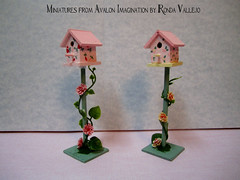 While simultaneously working on two different custom orders, I did these today. (wpnschick) Tags: miniaturegarden oneinchscale 16thscale 112thscale playscale miniatureaccessories miniaturebirdhouse