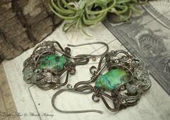Carmen - Old World Earrings (Luthien Thye) Tags: silver rustic victorian earrings ornate artjewelry