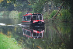 """Oxford"" mirrored (Halliwell_Michael ## More off than on this week #) Tags: autumn trees reflection reflections barge towpath westyorkshire barges brighouse 2015 coth cromwellbottom nikond40x calderhebblecanal placesyouvisit coth5 reflectionslovers"