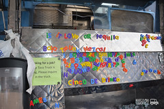 baja taco truck words of wisdom (WhatTheTrucks) Tags: boston streetfood fishtacos foodtruck mexicanfoodtruck orderonline tacofoodtruck bostonfoodtruck bajatacotruck dookans whatthetrucks