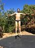 IMG_6987 (danimaniacs) Tags: shirtless man hot sexy guy beard fun jump trampoline trunks speedo swimsuit stud scruff bulge mansolo