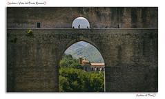 Spoleto - Vista del Ponte RomanO (Andrea di Florio (5,000,000 views)) Tags: street nikon ponte romano chiesa e piazza duomo spoleto bianco nero umbria interno torri scultura delle religione d600 lucenaturale andreadiflorio