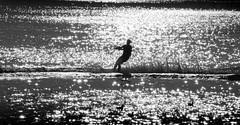 Southport (Pitheadgear) Tags: blackandwhite bw monochrome skiing lancashire waterskiing watersports southport sefton
