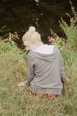 (verityxrose) Tags: park uk flowers summer england woman girl grass female river friend feminine femme heat blonde derby