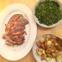 Meat 'n' two veg, Sunday roast.