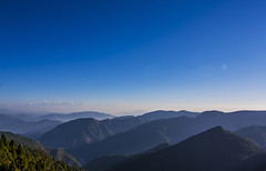 Himalayan Hills (Dheeraj Tripathi) Tags: morning blue light shadow sky india sunrise landscape hills snowcapped nainital himalayas snowcappedpeaks himalayanrange uttarakhand incredibleindia