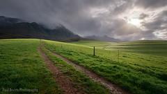 The Oaks Green Hills Sunlight (Panorama Paul) Tags: mountains grass sunrise southafrica path farm westerncape overberg greyton nikkorlenses nikfilters nikond800 wwwpaulbruinscoza paulbruinsphotography theoaksestate