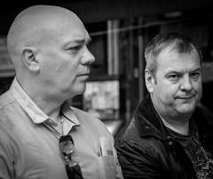 Rob & Paul (Antwerp 2015) (BW) (Panasonic Lumic GM5 &  mZuiko 45mm F1.8) (markdbaynham) Tags: street city urban lumix town gm belgium evil panasonic metropolis antwerp antwerpen dmc anvers csc m43 mft mirrorless gm5 u43 micro43 microfourthird lumixer micro43rd digitaldepotcouk digitaldepotstevenage
