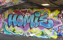Homie (cocabeenslinky) Tags: road park street city uk blue england urban streetart london art writing painting lumix graffiti hall october paint artist grafitti elizabeth photos south centre graf united capital letters bank kingdom can spray southbank queen panasonic skate belvedere graff se1 homie hated artiste the 2015 8xx dmcg6 ©cocabeenslinky