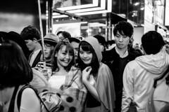 Halloween Shibuya (boldlyatomicwerewolf) Tags: blackandwhite halloween monochrome japan tokyo shibuya streetphotography 23mm14 fujixt1