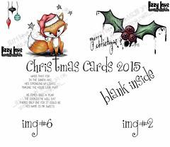 DISPLAY1 (Lizzy Love ♥ Oddball Art Co.) Tags: santa christmas cute eye art love reindeer cards big holidays paintings hats creepy antlers elf fox kawaii greeting bats lizzy 2015 oddballart