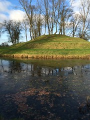 Prospect mound, and frozen moat (dark_dave25) Tags: new november cold sunny national trust sloes 2015 lyveden bield