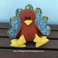 PATCH5301-Pavo-Turkey-SweetBriarSisters-22-11-2015 (Silvia LGD (Little Green Doll)) Tags: thanksgiving turkey handmade crafts softie softies thanksgivingday muñeco patchwork pavo hechoamano accióndegracias sweetbriarsisters tullytheturkey