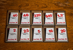 SanDisk Flashdisk (nov. 2015) Total 10 (maoby) Tags: old vintage rouge pc collection card memory pcmcia gb mb sandisk ata 16mb flashdisk 5mb 12gb 2mb sundisk 20mb 640mb 40mb 25mb 48mb 220mb