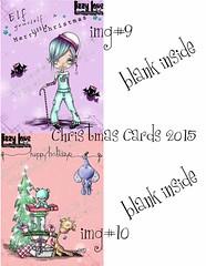 DISPLAY5 (Lizzy Love ♥ Oddball Art Co.) Tags: santa christmas cute eye art love reindeer cards big holidays paintings hats creepy antlers elf fox kawaii greeting bats lizzy 2015 oddballart
