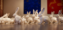 when left to devices (desertdragon) Tags: art museum savannah rabbits scad