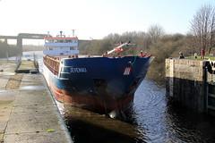 Jevenau (North Ports) Tags: 2 port manchester canal ship ships fehn locks passing peel trafford salford ports msc eccles capella irlam cadishead mmsi jevenau 305059000 305094000