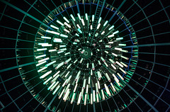 More lights! (Bart Weerdenburg) Tags: glow eindhoven light lights festival lookingup licht green abstract