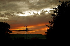 Heated (melissa.dehoog) Tags: sunset outdoor telephonewires bayarea california clouds trees