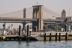 Color of Autumn 2016 In NYC (View on East River From Pier 11 North With Brooklyn Bridge And Manhattan Bridge In Perspective) (nrhodesphotos(the_eye_of_the_moment)) Tags: dsc0152872 theeyeofthemoment21gmailcom wwwflickrcomphotostheeyeofthemoment colorofautumn2016innyc reflections shadows manhattan nyc autumn season eastriver bridges brooklyn outdoor pier pier11 brooklynbridge manhattanbridge waterfront water bridge architecture cable watchtower skyline river sea city vehicle boat building metal glass people landscape clock gate fence lightfixtures transportation
