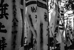 Japan flag (Audrey_Lamy) Tags: japan japon flag drapeau monochrome blackwhite noirblanc noiretblanc symbole hiragana katakana kamakura ecriture write flou