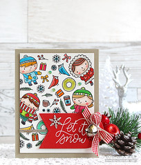 Christmas Friends (RejoicingCrafts) Tags: prettypinkposh christmas christmascard papercrafts cardmaking stamping handmade cards watercolor watercoloring