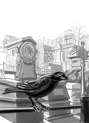 The Raven-Sketch-By Tiki Jay One (wheres tiki-jay?) Tags: tiki jay one tikijay1 the raven edgar allen poe classic literature book cover gothic goth cemetery graveyard
