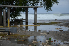 Beach erosion at Windmill Beach caused by the impending impact of Hurricane Matthew at Naval Station Guantanamo Bay. (Official U.S. Navy Imagery) Tags: hurricanematthew storm gtmo meteorology weather shelter evacuation navy usnavy navalstationguantanamobay cuba