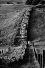 Hadrian's Wall (Richie Rue) Tags: nikon d300 hadrians wall northumberland cumbria england border landscape travel mono monochrome blackandwhite hills countryside roman fortress
