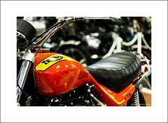 Triumph X-75 (Descended from Ding the Devil) Tags: british canon40d canonefs60mmmacro craigvetter dof hurricane nationalmotorcyclemuseum triumph x75 beyondbokeh bokeh depthoffield motorbike motorcyle photoborder primelens selectivefocus