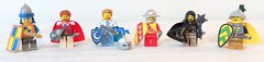 Color knights (spaghettofil) Tags: lego castle knights decals brickforge brick forge brickarms arms megabloks