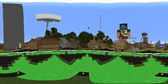 Downtown Achievement City Day FLAT (NMel Media) Tags: achievement city hunters rooster teeth minecraft 360 photosphere nmel media