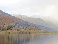 6114 Llanberis Quarry wreathed in low cloud (Andy - Busyyyyyyyyy) Tags: 20161119 autumncolour eryri lake lll llynpadarn mist mmm mountain snowdonia trees ttt water www