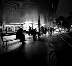 Street Life (CoolMcFlash) Tags: street streetphotography vienna bw blackandwhite blackwhite people canon eos 60d sigma 10mm fisheye wideangle silhouette night nightlife tram station strase wien sw schwarzweis personen leute fischauge weitwinkel konturen nacht nachtleben strasenbahn fotografie photography shadow schatten