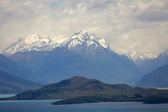 Painted Paradise. The road to Glenorchy, Otago.. (Psychic Insights) Tags: landscape mountains newzealand nationalparks glenorchy natureoutdoors turbulent mightylakes boating islands snow sky clouds hill ngc outdoor mountain cloud autofocus
